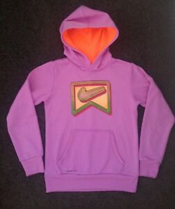NIKE purple THERMA fit hoodie Sz M, like new