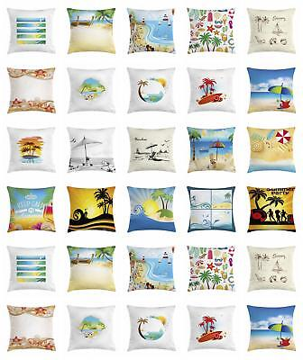 beach accent pillow case with 8 sizes