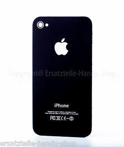 für original Iphone 4 4g Backcover Akkudeckel in Schwarz Rückschalle Rückseite