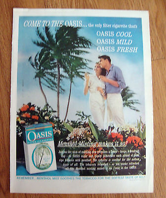 - 1961 Oasis Cigarettes Ad Cool Mild Fresh