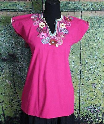 Одежда Латинской Америки Pink Floral Blouse