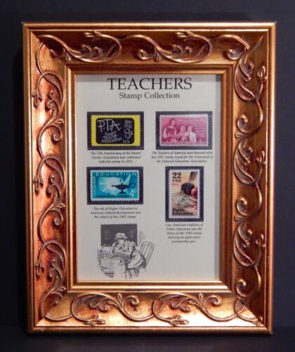 Stamp Collection Honoring the Teachers of America and Public Education Framed