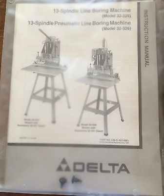 Nos Delta 13-spindle Line Boring Machine Pneumatic 32-326 32-325 Lit Pack
