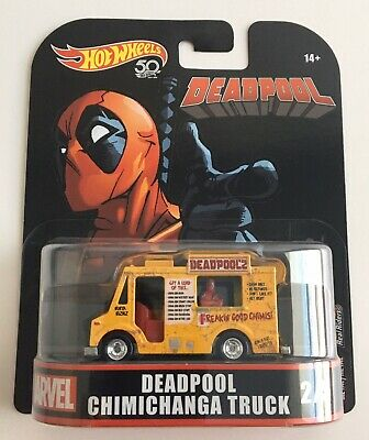 HOT WHEELS MARVEL COMICS SERIES DEADPOOL CHIMICHANGA TRUCK 2 OF 5 / #2