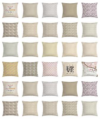 Beige Throw Pillow Cases Cushion Covers by Ambesonne Home Accent Decor 8 Sizes