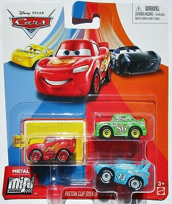 Disney Pixar Cars Mini Racers 3-Pack - Piston Cup Rivalry Series - King - Chick