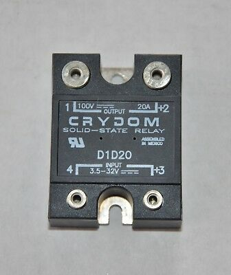 Crydom Solid State Relay D1d20 New In Box With Hardware