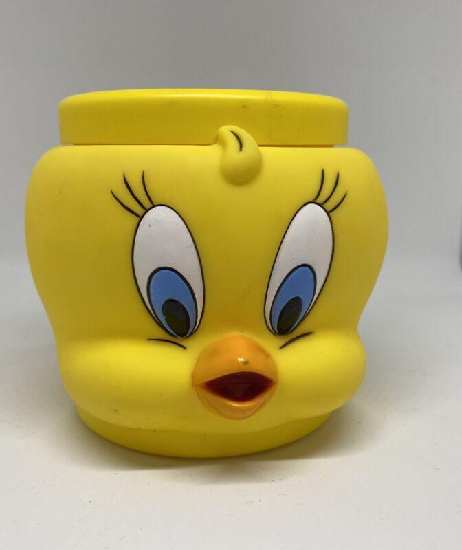 Looney Tunes Tweety Bird 3D Cup Mug Coffee Tea Plastic 1992 Warner Bros
