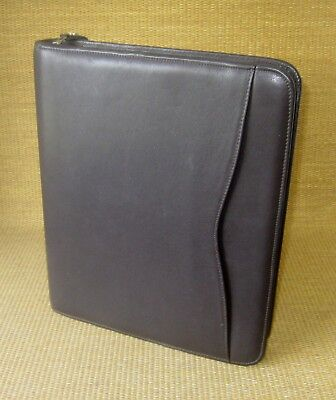 Monarchfolio 1 Rings Brown Leather Day-timer Zip Plannerbinder Franklin