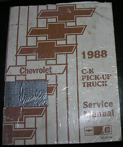 NICE-88-C-K-Chevrolet-Pickup-Truck-Service-Manual-Set-VGC-Barely-Used-1988