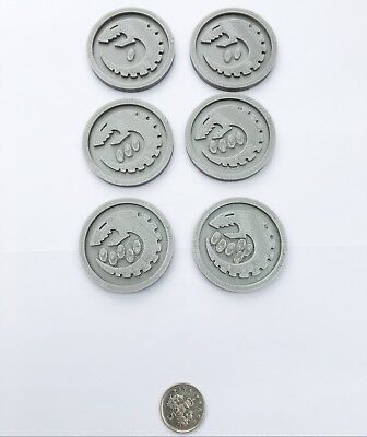 x6 Numbered Embyo Objective Markers Tyranid Fantasy Gaming Scenery Wargames