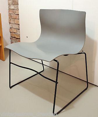 Handkerchief Stuhl Knoll Italien Design Vignelli 80er Jahre Besucherstuhl grau