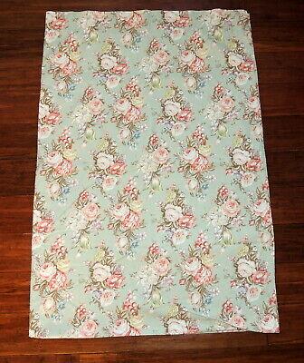 (Ralph Lauren Twin Flat Bed Sheet Charlotte Roses Cottage Farmhouse Romantic)