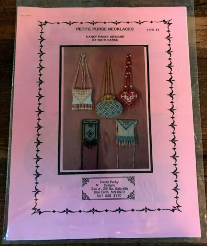 Ruth Hanke Hanky Panky Designs Petite Purse Necklaces Mini Hardanger Patterns