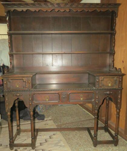 Kittinger Furniture Vintage Welsh Dresser Wall Unit Sideboard