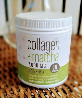 Collagen Matcha, Drink Mix Powder, 7,000 MG Protein NEW