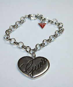 Brand new guess heart with a guess signature  charm bracelet( Second)