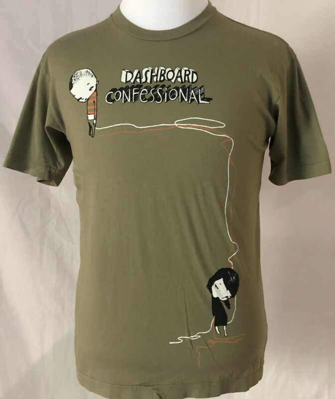 Dashboard Confessional 2006 Dusk To Summer Tour Green Shirt Size Medium