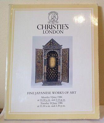 CHRISTIE`S LONDON CATALOGUE 9-10  june 1986 fine Japanese works of art