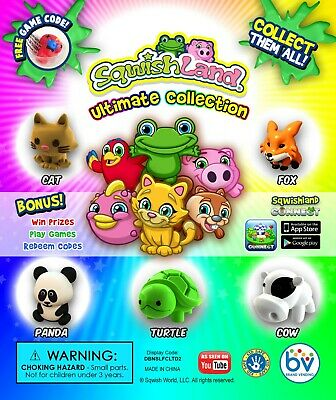 250 Squish Land Animal Ultimate Collection 1 Inch Vending Machine Capsules Toy