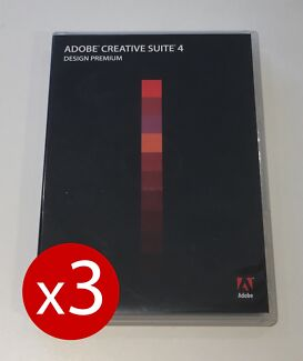 THREE Adobe Creative Suite CS4 Design Premium Licences