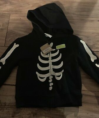 Halloween Crazy 8 (Crazy 8 Boys Jacket Sweatshirt Size 2T Halloween Skeleton)