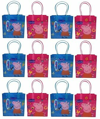 Peppa Pig Goody Bag Party Goodie Gift Birthday Candy Bags 12pc (Peppa Pig Gift Bags)