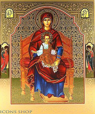 Pair Icon of Kazan and Jesus Chris Sofrino Икона Казанская и Спаситель 15x18 cm