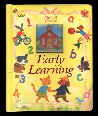 My First Treasury:  Early Learning - Padded Board Book - Lovely Art - NEW - MINT Learn Padded Board Book