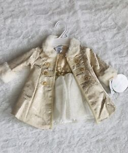 BRAND NEW - Baby girl gold party dress