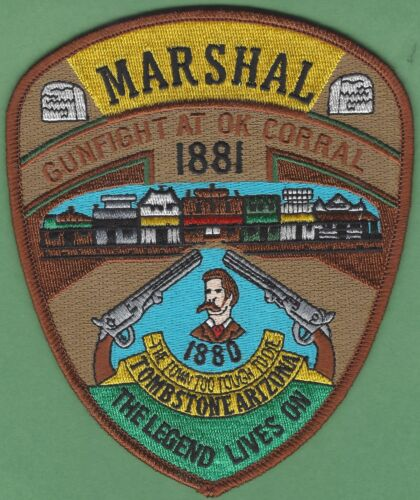 TOMBSTONE MARSHAL ARIZONA SHOULDER PATCH OK CORRAL
