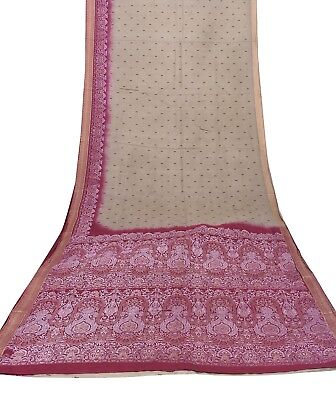 Indian Silk Blend Vintage Saree Olive Green Floral Printed Women Craft Fabric Olive Green Silk Saree