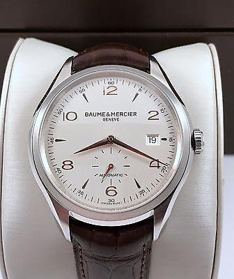 2015 Baume Mercier Clifton Automatic Mens Watch Model M0A10054 Mint Condition