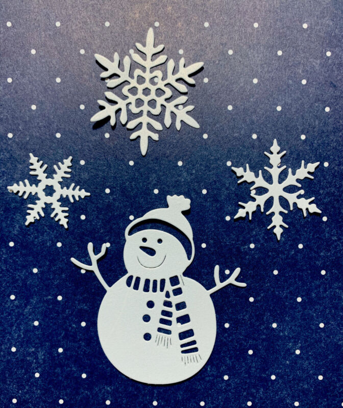Snowman With Snowflakes Die Cuts Card Embellishments!