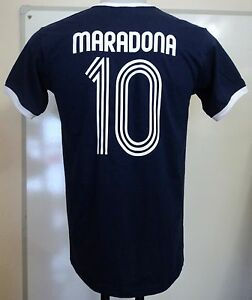 ARGENTINA MARADONA 10 RETRO STYLE T-SHIRT ADULTS SIZE MEDIUM BRAND NEW
