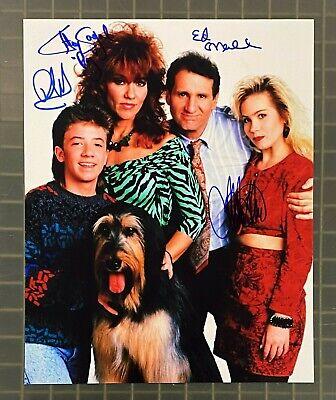 MARRIED WITH CHILDREN Cast 4x Signed 8x10 Photo w/ Ed O'Neill Al Bundy PSA/DNA