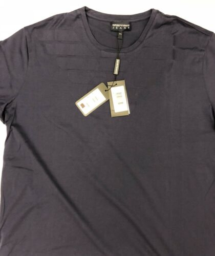 4509dfc3027b3 NWT $175 Emporio Armani Jeans Blue Short Sleeve T-Shirt 3XL ZNH69 фото