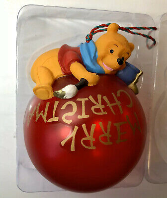 "Winnie The Pooh Disney Store 1995 ""Christmas At Our House"" Ball Ornament New NIP Winnie The Pooh Ball"