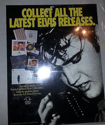 Elvis Presley USPS Stamp Poster Ad 14'' x 11''