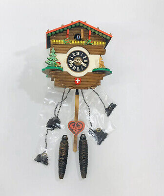 Vintage German Swiss Chalet Cuckoo Clock In Repairable Condition Helmut Germany