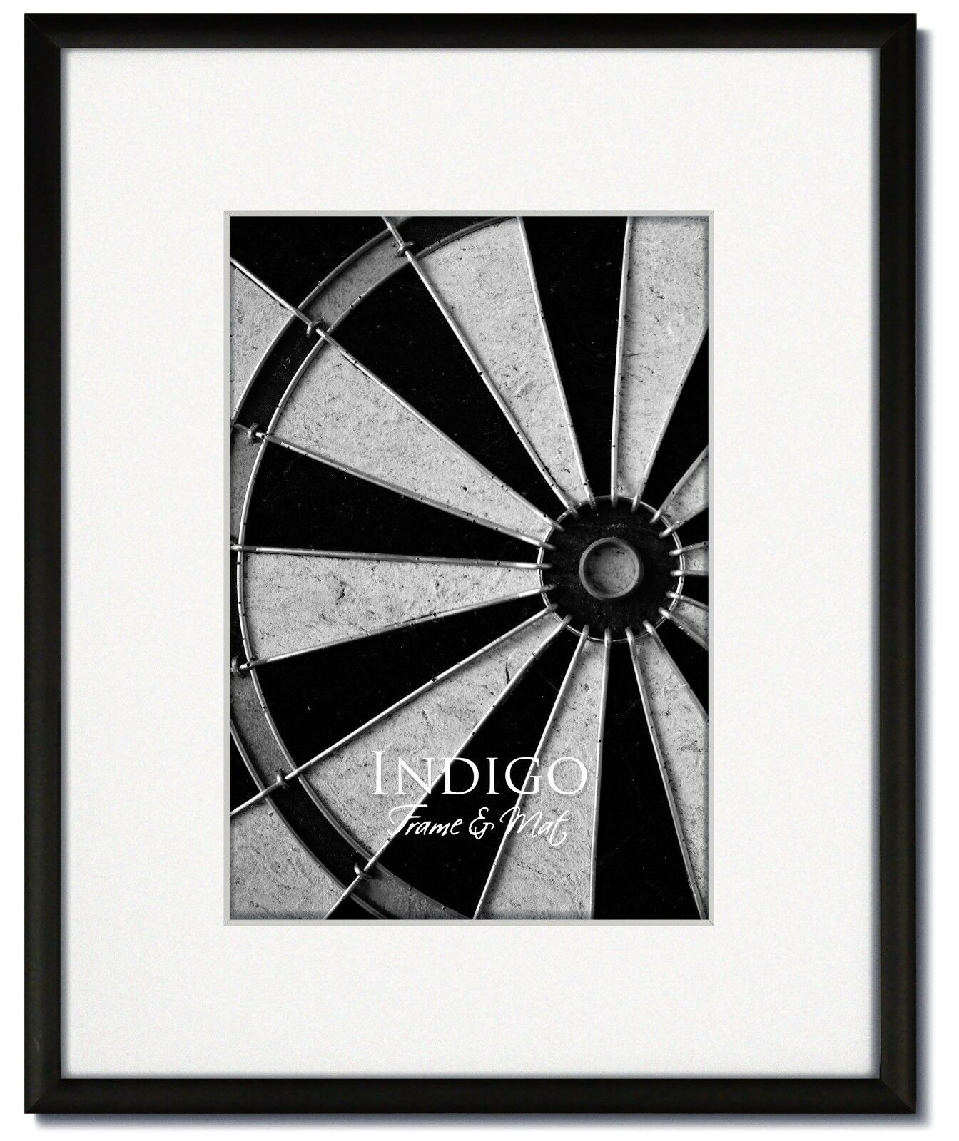 One 16x20 Frosted Black Metal Picture Frame, Glass, Single W