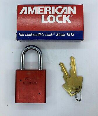 American Padlocks A1205 Red Keyed Alike Rekeyable