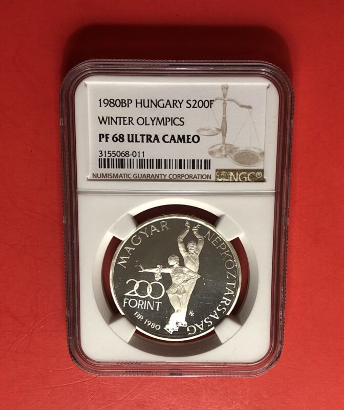 Hungary -1980BP-200 Forint SILVER COIN,GRADED BY NGC PF 68 ULTRA CAMEO .