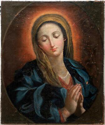 Dipinto antico. XVIII secolo, 1700 (18eme, 18th, 18jd) Vergine.