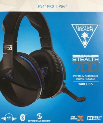 Turtle Beach Stealth 700 Wireless DTS 7.1 Surround Sound Gaming Headset for PlayStation 4 and PlayStation 4 Pro Black TBS-3770-01