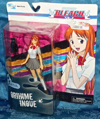 Shonen Jump Bleach Orihime Inoue figure new HTF New Sealed & Black Cat Toy Rare