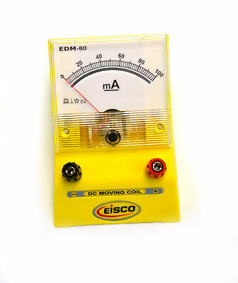 Eisco Labs Analog Ammeter Dc Current Meter 0 - 100 Milliamp 2ma Resolution