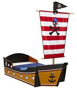 Kinderbett Pirat Piratenbett Schiff Piratenschiff Kinder Bett Seeräuber 140x70