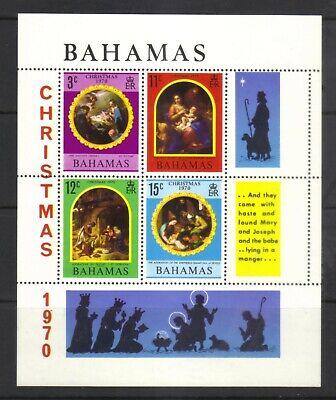 BAHAMAS 1970 CHRISTMAS MINI SHEET SG MS358 Mi Bl 3 Sc 312a  MINT NEVER HINGED