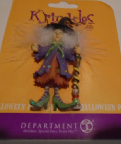 Dept 56 Krinkles Halloween Witch Lapel Pin Patience Brewster Never Used